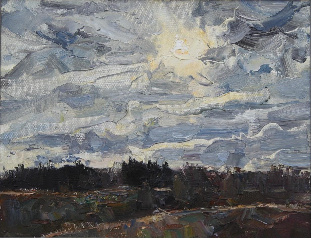 Погода меняется, холст масло, художник Пилипенко Михаил