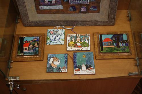 Выставку мастеров из Тарусы, экспозиция 3
