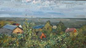 Каталог Ремесел, город Таруса, художник Пилипенко Михаил, живопись холст/масло, Яблоки тарусы
