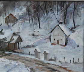Каталог Ремесел, город Таруса, художник Пилипенко Михаил, живопись холст/масло, Белый пейзаж