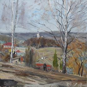 Каталог Ремесел, город Таруса, художник Пилипенко Михаил, живопись холст/масло, Весна пришла.