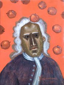 Каталог Ремесел, город Таруса, художник Пилипенко Михаил, живопись (левкас / темпера), Ньютон