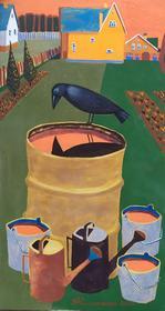 Каталог Ремесел, город Таруса, художник Пилипенко Михаил, живопись (левкас / темпера), Отражение (левкас)