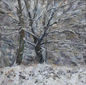 Каталог Ремесел, город Таруса, художник Пилипенко Михаил, живопись холст/масло, Зимние деревья