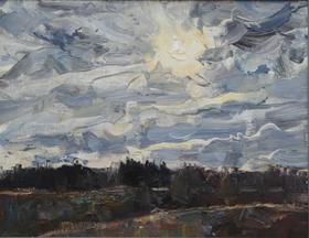 Каталог Ремесел, город Таруса, художник Пилипенко Михаил, живопись холст/масло, Погода меняется