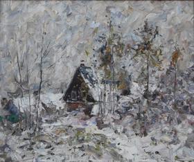 Каталог Ремесел, город Таруса, художник Пилипенко Михаил, живопись холст/масло, Первый снег