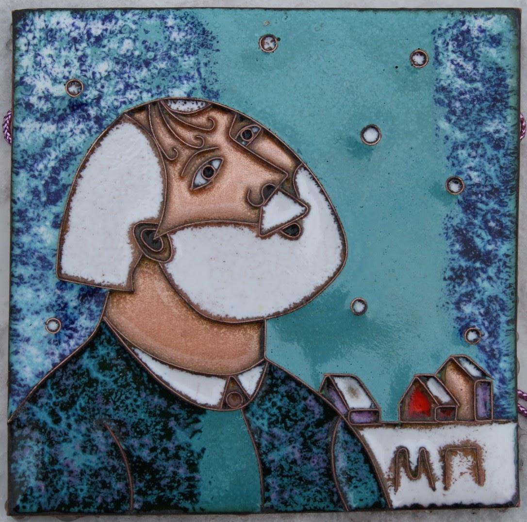 Каталог Ремесел, город Таруса, художник Пилипенко Михаил, горячая эмаль / медь, Первый снег