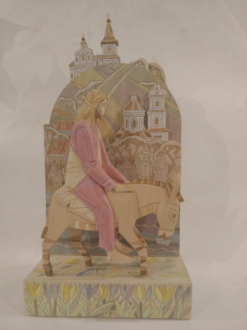 Каталог Ремесел, город Таруса, художник Пилипенко Сергей, скульптура (дерево/тонировка), Вербное воскресенье