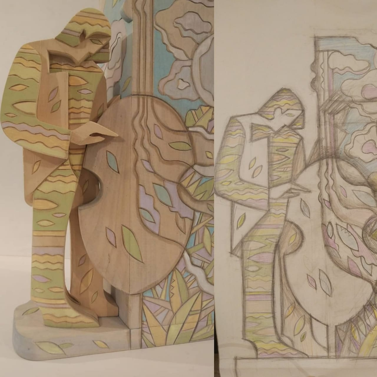 Каталог Ремесел, город Таруса, художник Пилипенко Сергей, скульптура (дерево/тонировка), Концерт