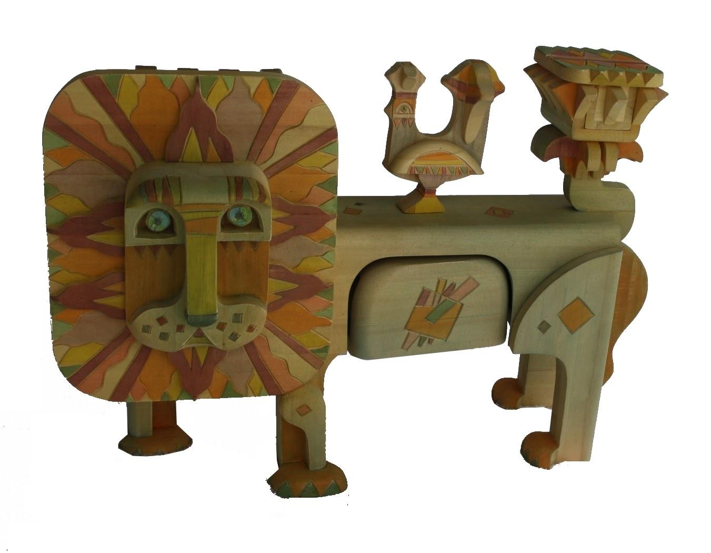 Каталог Ремесел, город Таруса, художник скульптор Пилипенко Сергей, скульптура (дерево/тонировка), Огне-гривый лев
