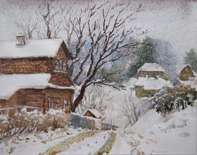 Каталог Ремесел, город Таруса, художник Пилипенко Антонина, живопись (акварель/пастель), Свежий снег