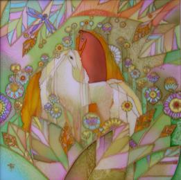Каталог Ремесел, город Таруса, художник Пилипенко Виктория, батик (роспись по шелку), Пора цветения